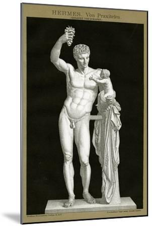 Hermes and the Infant Dionysos Attributed to Praxiteles C.1895 (Colour Chromolithograph)--Mounted Giclee Print