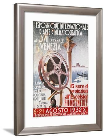 Poster for First Venice Film Festival for 18th Biennial of Venice, 1932, Italy, 20th Century--Framed Giclee Print