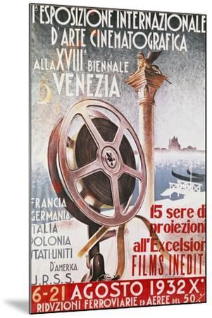 Poster for First Venice Film Festival for 18th Biennial of Venice, 1932, Italy, 20th Century--Mounted Giclee Print