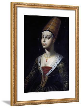 Portrait of Francoise De Boulogne, Castle of Lapalisse (La Palice), Auvergne, France--Framed Giclee Print