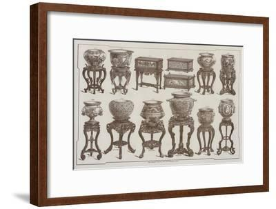 Page from the Catalogue of the Grand Depot De Porcelaines, Faiences Et Verreries--Framed Giclee Print