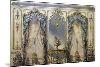 Design of Rococo Style Decor for Living Room, 1874, Gouache by G Felix Lenoir--Mounted Giclee Print