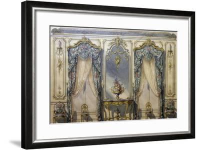 Design of Rococo Style Decor for Living Room, 1874, Gouache by G Felix Lenoir--Framed Giclee Print