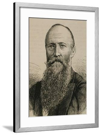 Augustus Le Plongeon (1825-1908) British-American Photographer and Antiquarian.--Framed Giclee Print