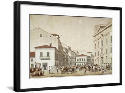 Boa Vista Square in Recife, from Souvenir of Pernabuco, by F. Kaus, 1850--Framed Giclee Print