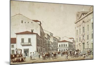 Boa Vista Square in Recife, from Souvenir of Pernabuco, by F. Kaus, 1850--Mounted Giclee Print
