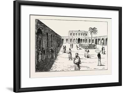 The New Exchange Minet El Basel, Arab Merchants Selling their Cotton Crops, Egypt, 1873--Framed Giclee Print