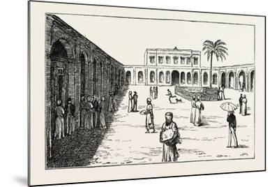 The New Exchange Minet El Basel, Arab Merchants Selling their Cotton Crops, Egypt, 1873--Mounted Giclee Print