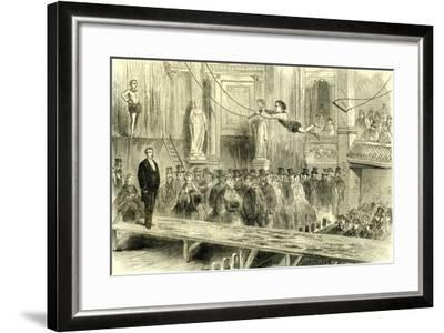 Oxford Music Hall U.K. 1862 the Juvenile Professors of the Trapeze Great Britain--Framed Giclee Print