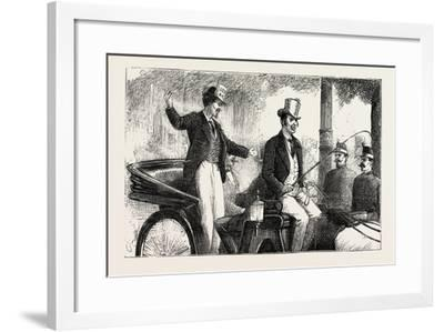 Victims of the Conscription Enjoying their Last Moments of Freedom, the Paris Exhibition, France--Framed Giclee Print