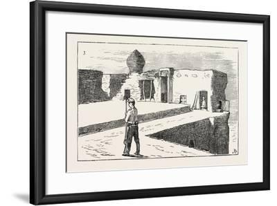 The Russian Expedition to Khiva: Sentinel on the Walls of the Fortress Chasar Asp., 1873--Framed Giclee Print