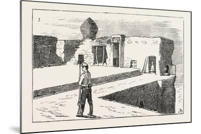 The Russian Expedition to Khiva: Sentinel on the Walls of the Fortress Chasar Asp., 1873--Mounted Giclee Print