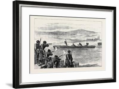 The Civil War in Spain: a Race for Life, an Incident of the Recent Carlist Attack on Béhobia--Framed Giclee Print