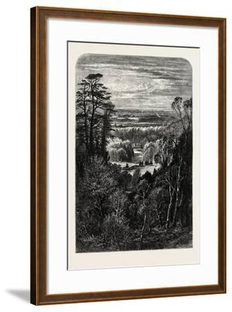 The Fishing Temple, Virginia Water, from the Belvidere, Windsor, UK, 19th Century--Framed Giclee Print