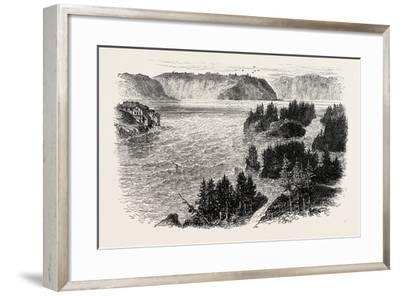 St. John's River, Frontiers of New Brunswick and Maine, North America, USA, 1870S--Framed Giclee Print