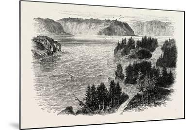 St. John's River, Frontiers of New Brunswick and Maine, North America, USA, 1870S--Mounted Giclee Print