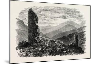 The Canigou, from Mont Louis, the Pyrenees, France, 19th Century--Mounted Giclee Print