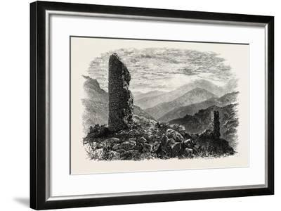 The Canigou, from Mont Louis, the Pyrenees, France, 19th Century--Framed Giclee Print