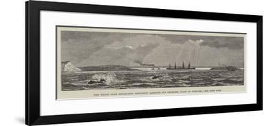 The White Star Steam-Ship Britannic Aground Off Kenmore, Coast of Wexford--Framed Giclee Print