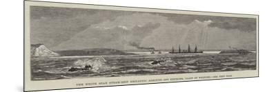 The White Star Steam-Ship Britannic Aground Off Kenmore, Coast of Wexford--Mounted Giclee Print