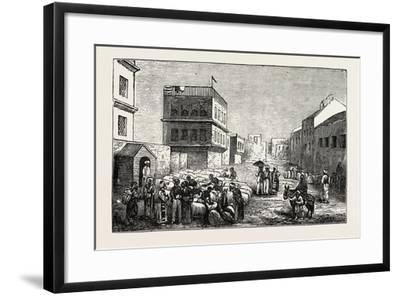 Cotton Yard, Minet El Basel, Alexandria Samples from Cotton Bags, Egypt, 1873--Framed Giclee Print
