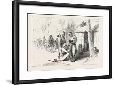 Travelling in India: Wayside Shed for Supplying Travellers with Water. 1876--Framed Giclee Print