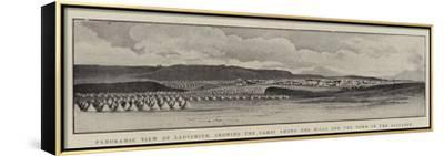 Panoramic View of Ladysmith, Showing the Camps Among the Hills and the Town in the Distance--Framed Stretched Canvas Print