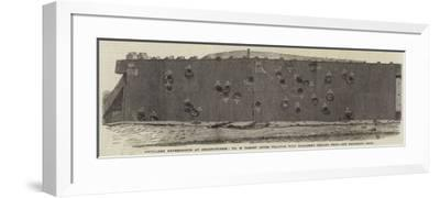 Artillery Experiments at Shoeburyness, No 29 Target after Practice with Palliser's Chilled Shot--Framed Giclee Print