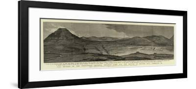 The Revolt in the Transvaal, General Colley's Camp and the Battle of Majuba Hill, 27 February--Framed Giclee Print