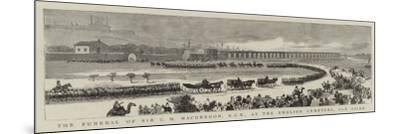 The Funeral of Sir C M Macgregor, Kcb at the English Cemetery, Old Cairo--Mounted Giclee Print