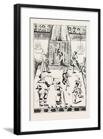 Stage of the Red Bull Theatre During the Commonwealth, London, UK, 1893--Framed Giclee Print
