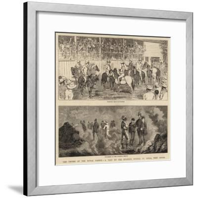 The Cruise of the Royal Cadets, a Visit to the Sulphur Springs, St Lucia, West Indies--Framed Giclee Print