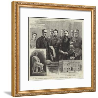The Royal College of Surgeons, Dublin, Unveiling of a Statue of William Dease, the First President--Framed Giclee Print