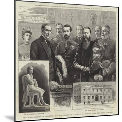 The Royal College of Surgeons, Dublin, Unveiling of a Statue of William Dease, the First President--Mounted Giclee Print
