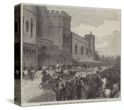 New Palace-Yard on the Day Mr Gladstone Moved the Second Reading of the Reform Bill--Stretched Canvas Print