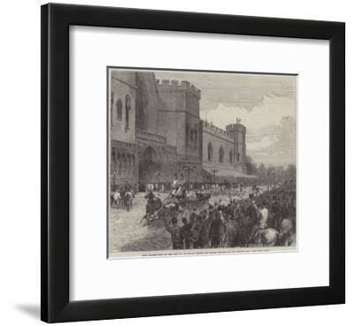 New Palace-Yard on the Day Mr Gladstone Moved the Second Reading of the Reform Bill--Framed Giclee Print