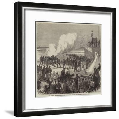 The National Artillery Association at Shoeburyness, Shooting for the Queen's Prize--Framed Giclee Print