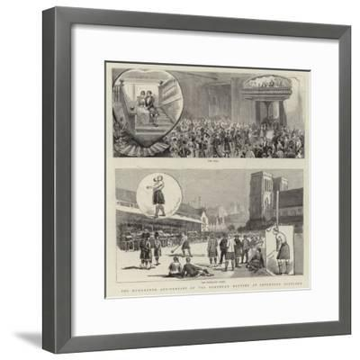 The Hundredth Anniversary of the Northern Meeting at Inverness, Scotland--Framed Giclee Print