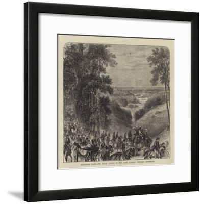 Goodwood Races, the Beech Avenue in the Park, Looking Towards Chichester--Framed Giclee Print