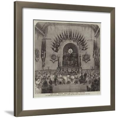 The Guards' Ball in the International Exhibition Building, the Royal Party in the Supper-Room--Framed Giclee Print