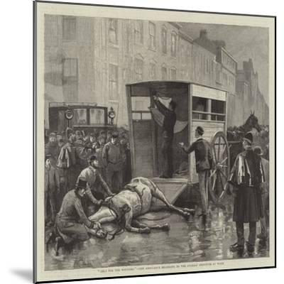 Help for the Wounded, the Ambulance Belonging to the Animals' Institute at Work--Mounted Giclee Print
