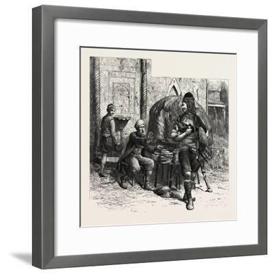 A Bashi-Bazouk and a Bread-Seller, Constantinople, Istanbul, Turkey, 19th Century--Framed Giclee Print