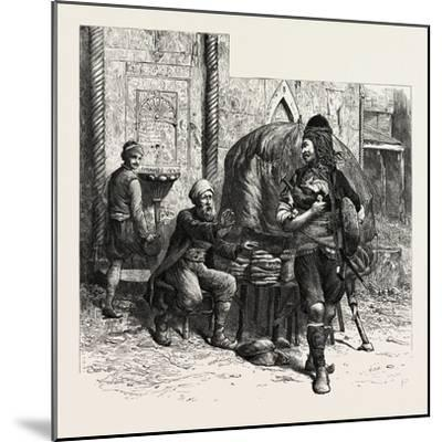 A Bashi-Bazouk and a Bread-Seller, Constantinople, Istanbul, Turkey, 19th Century--Mounted Giclee Print
