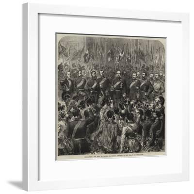 Proclaiming the King of Prussia as German Emperor in the Palace of Versailles--Framed Giclee Print