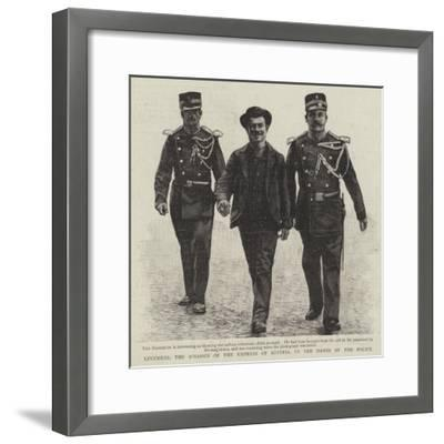 Luccheni, the Assassin of the Empress of Austria, in the Hands of the Police--Framed Giclee Print