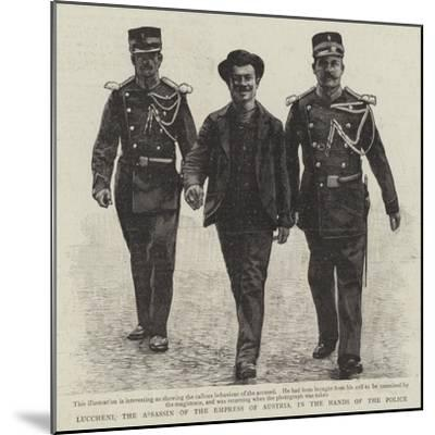 Luccheni, the Assassin of the Empress of Austria, in the Hands of the Police--Mounted Giclee Print