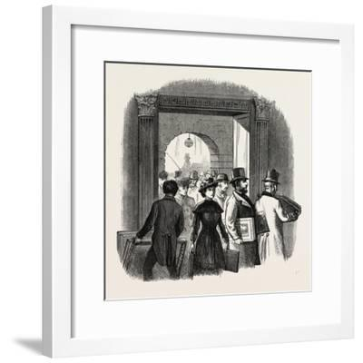 The Royal Academy: the Entrance from the Quadrangle of Burlington House: Taking in In the Hall. Uk--Framed Giclee Print