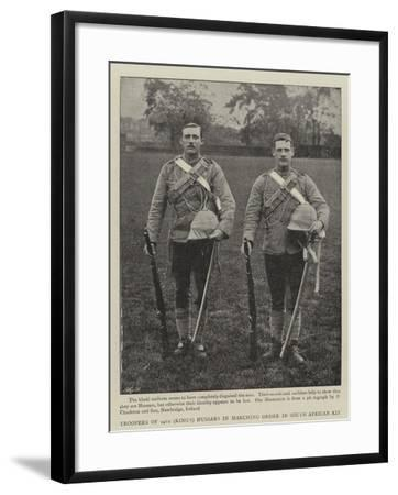 Troopers of 14th (King'S) Hussars in Marching Order in South African Kit--Framed Giclee Print