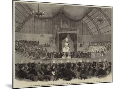 The Shakespeare Commemoration in London, Unveiling a Bust of Shakespeare at the Agricultural Hall--Mounted Giclee Print