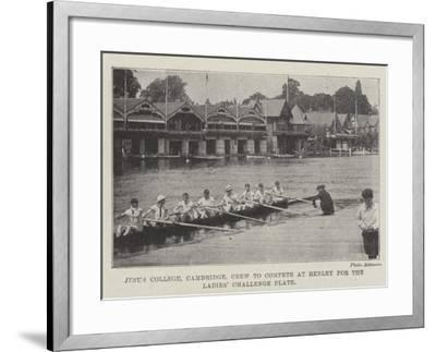 Jesus College, Cambridge, Crew to Compete at Henley for the Ladies' Challenge Plate--Framed Giclee Print
